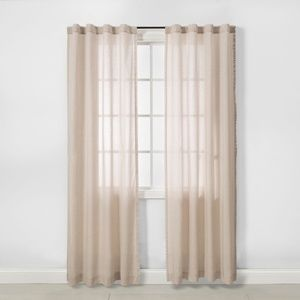 2pk Light Filtering Window Curtain Panels Tan